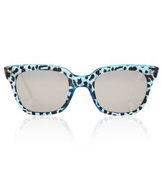 SHERIFF AND CHERRY BLUE G11S WILDCAT WAYFARER SUNGLASSES  £95.00