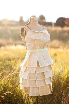 Book Themed Ball, Kara's Party Ideas... this book page dress would be fun for book club....