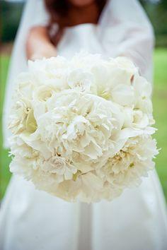 Peony Peonies White Hydrangea Rose Bouquet Flowers Bride Bridal Rustic Elegant Mint Gold Barn Wedding http://gemmagaskins.co.uk/