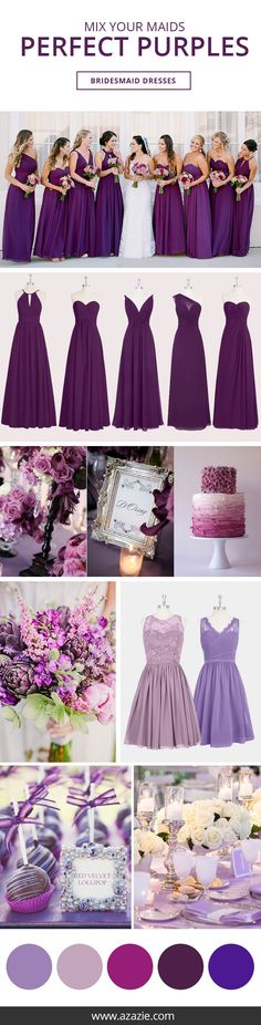 Purple Bridesmaid Dresses - Azazie is the online destination for special occasion dresses. Our online boutique connects bridesmaids and brides with over 400 on-trend styles, where each is available in colors. Wedding 2017, Trendy Wedding, Perfect Wedding, Dream Wedding, Wedding Ceremony, Wedding Disney, Wedding Beauty, Bridesmaid Dress Colors, Wedding Bridesmaid Dresses
