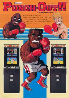 Punch-Out!!, an arcade game created by Nintendo in 1984.