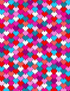 Minecraft Pixel Heart Tessellation Free Printable!