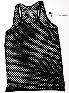 Punk Unisex Bloodycat Fishnet Tank Top Shirt Sleeveless