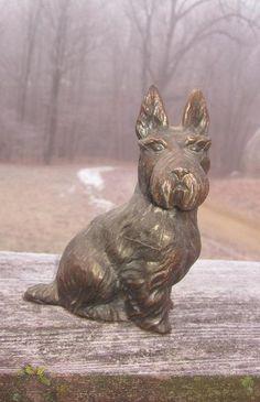 Old Metal Scottie Dog
