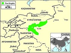 Pray / Kyrgyz of Afghanistan map