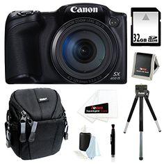Canon Powershot SX400 IS 16MP Digital Camera (Black) with 720p HD Video and 30X Optical Zoom + 32GB Accessory Bundle Canon http://www.amazon.com/dp/B00NG0CC6Q/ref=cm_sw_r_pi_dp_-YWrub0540HBW