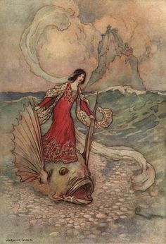 As a Pisces, when the real world is tough, you can substitute it with an imaginative vision and think in that until things get improved. (zodiacchic.com) (Art: Warwick Goble)