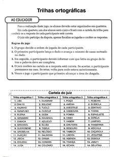 Professora Adriana Nicolodelli: Trilhas Ortográficas - Jogos