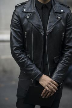 Men's Leather Jackets: How To Choose The One For You. A leather coat is a must for each guy's closet and is likewise an excellent method to express his individual design. Leather jackets never head out of styl Biker Leather, Leather Men, Black Leather, Leather Jacket Man, Custom Leather, Leather Biker Jackets, Jacket Men, Biker Jacket Outfit, Riders Jacket