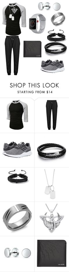"""Just chillin #3"" by yanyssa-augustu on Polyvore featuring LE3NO, adidas, N'Damus, Topman, Variations, Perepaix, Carolina Glamour Collection, Bling Jewelry, Neil Barrett and Apple"