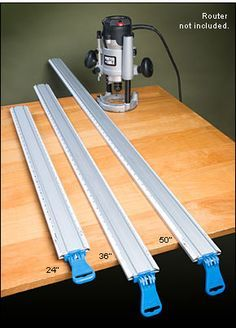 Set of 3 Low-Profile Tool Guides/Clamps - Woodworking