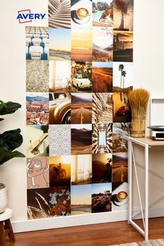 It's easy to create a photo collage wall at home using Avery Surface Safe labels. The removable adhesive sticks and stays put yet removes cleanly without damage or residue! (Avery 61515)
