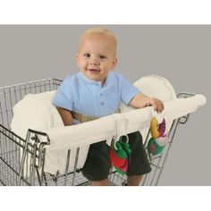 Leachco Organic Smart Prop 'R Shopper Cart Cover, Ivory