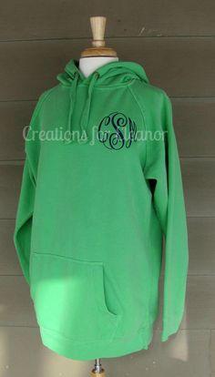 Women's Monogrammed Hooded Sweatshirt, Tunic Length