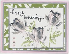 Lotus Blossom_Sale-a-Bration_Linda Bauwin_Jan - black, slate, pink pirouette Flower Stamp, Flower Cards, Bday Cards, Ppr, Stamping Up Cards, Cool Cards, Creative Cards, Greeting Cards Handmade, Scrapbook Cards