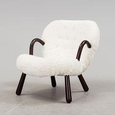 "PHILIP ARCTANDER, tillskriven, fåtölj, ""Clam Chair"" / ""Muslinge"", 1940/50-tal."