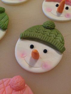 Snowman cupcake topper