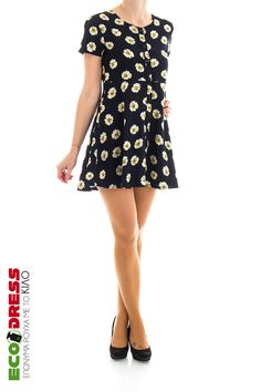 Φόρεμα Short Sleeve Dresses, Dresses With Sleeves, Fashion, Moda, Sleeve Dresses, Fashion Styles, Gowns With Sleeves, Fashion Illustrations