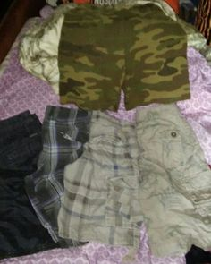 5 pair boys shorts size 12