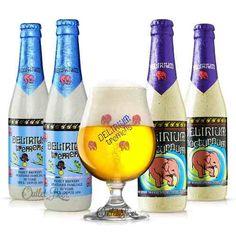 kit cerveja delirium 4 cervejas + 1 taça pronta entrega!