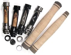 Cork Grips w/Deco Rings & Reel Seat Handle Set - Custom Fly Rod Crafters