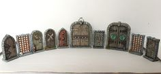 Some ideas to decorate your dungeon doors.