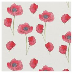 Pin by tad on flower pinterest red poppies watercolor wildflowers botanical art fabric mightylinksfo