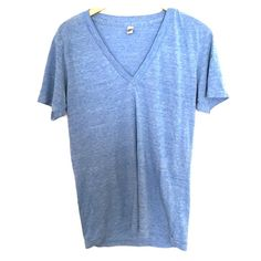 American Apparel Track Shirt American Apparel Track Shirt gently worn. size medium super soft essential tee. small inj stain on one sleeve (see picture) American Apparel Tops Tees - Short Sleeve