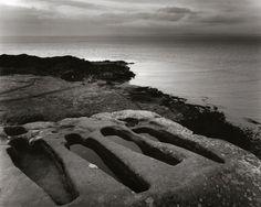 Early-medieval stone graves near Heysham, Lancashire.