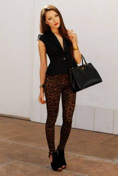 38120ac81ba3 Fredericks Of Hollywood Lingerie Challenge  2 - Mesh ( Animal Print  Leggings ) with Jessica