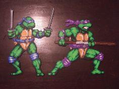sandylandya@outlook.es TMNT (Leonardo and Donatello) perler bead sprites by FullMetal6 on deviantART