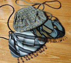 Purses made from Men's neckties...