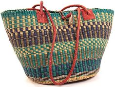 """Shoulder Bag 17"""" Across27558; Fair Trade Baskets made in Africa.  Free Shipping.  I've bought several baskets from them and so far I haven't been disappointed."""