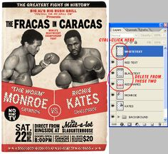 As it's Graphic Design Week here on Psdtuts+, let's take a look at some basic Graphic Design principles and cast an eye over the Boxing Poster aesthetic from yestery