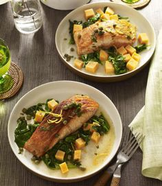 Simple salmon and sweet potatoes become a gourmet meal in minutes