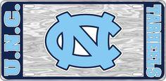 UNC University of North Carolina Tarheels - NC Logo - Mirrored License Plate - Car Truck SUV