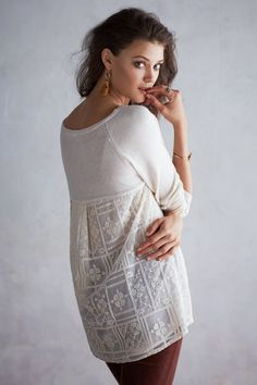 Embro mesh, Averly Pullover - Anthropologie.com