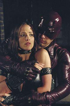 Ben Affleck as Daredevil, and Jennifer Garner as Elektra.
