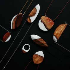 Wood fragmented jewelry