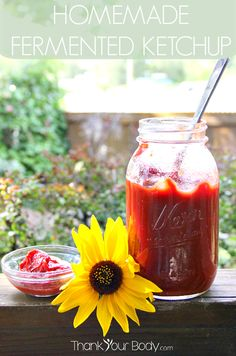 Love ketchup, but not corn syrup? This healthy homemade fermented ketchup tastes greatand is full of probiotics, lycopene, vitamin C and iro...