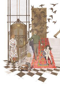 Illustrator's Corner by Nader Sharaf, via Behance