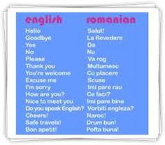 An introduction to the Romanian language, including some simple words and phrases as well as audio files Romanian Language, German Language, Foreign Language, Romanian Gypsy, Learning Tips, Verb Conjugation, Romania Travel, European Languages, Learn English Grammar
