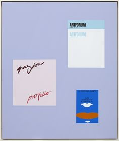 Matthew Brannon Definition, 2014 acrylic and enamel on canvas 81,5 × 68,7 cm (32 × 27 inches)