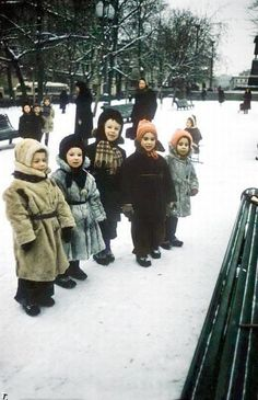 russian kids in winter