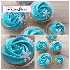 """Winter Wonderland"" Vanilla Buttercream Cupcakes. www.facebook.com/kerriescakesnsw"