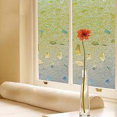 Decorative Films Home & Garden Energetic Window Film No Glue Static Film Blocks Privacy Green Spring Vinegar Glass Sticker Dormitory Decorative Color Film Window Stick Selected Material