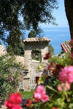 ~ Belfry in the villa garden ~ Taormina, Sicily ~
