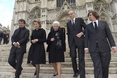 Queen Mathilde and Queen Paola at the funeral of Jean-Pierre de Launoit.