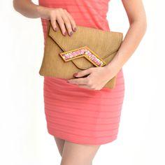 Envy sorbet clutch - #rachanareddy #bags #clutch #india #wood #handcrafted #woodenclutch #flowerburst #fashion #elegant #nostalgic #summer #statementaccessory #ss14 #campaign #ecofashion #easybreezy #sorbet #floral #envelopeclutch   Shop here: www.rachanareddy.com