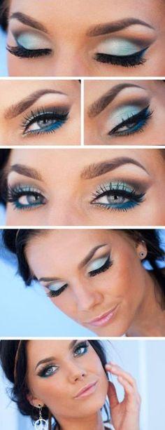 Un bellissimo make up per chi ama il blu sfumato! https://www.facebook.com/photo.php?fbid=10151604697258387&set=pb.278789638386.-2207520000.1379594624.&type=3&theater